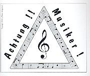 Aufkleber ... Achtung Musiker