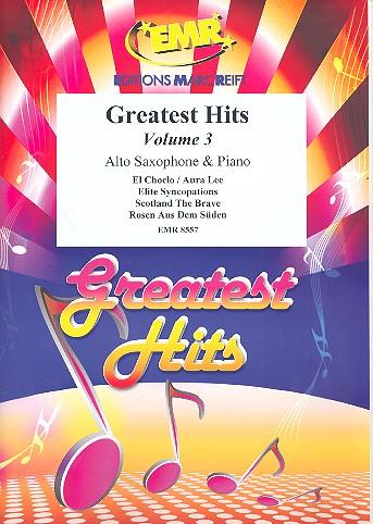 Greatest Hits Band 3: für Altsaxophon und Klavier (Percussion ad lib)