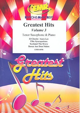Greatest Hits Band 3: für Tenorsaxophon und Klavier (Percussion ad lib)