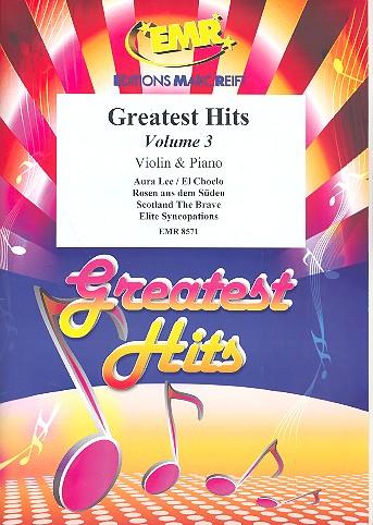 Greatest Hits Band 3: für Violine und Klavier (Percussion ad lib)
