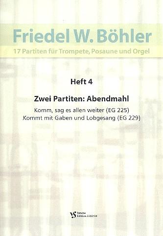 17 Partiten Band 4: für Trompete, Posaune und Orgel