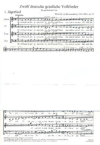 12 deutsche geistliche Volkslieder: für gem Chor a capella