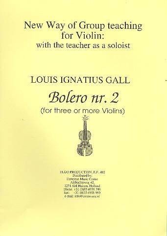 Bolero no.2: for 3 violins (ensemble) score and parts