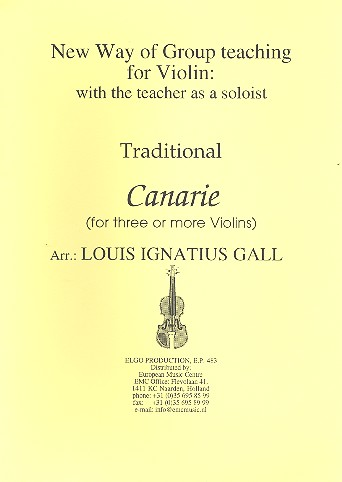 Canarie: for 3 violins (ensemble) score and parts