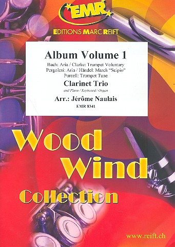Album vol.1: for 3 clarinets and piano (keyboard/organ) (percussion ad lib)