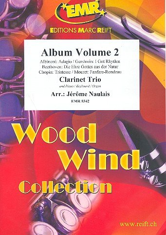 Album vol.2: for 3 clarinets and piano (keyboard/organ) (percussion ad lib)