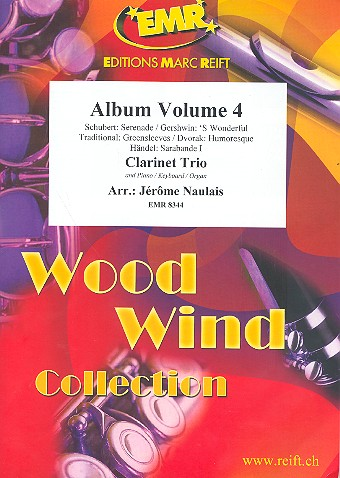 Album vol.4: for 3 clarinets and piano (keyboard/organ) (percussion ad lib)