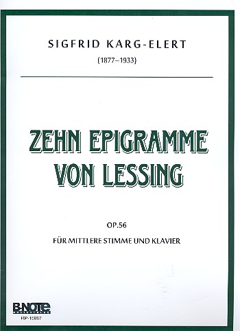 10 Epigramme von Lessing opus.56: für mittlere Stimme und Klavier