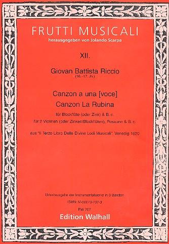 2 Kanzonen: für 1-2 Melodieinstrumente und Bc