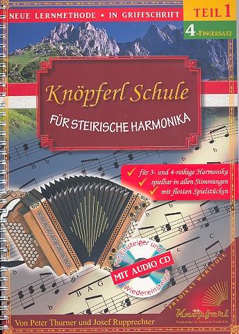 Thurner, Peter - Knöpferlschule 4-Fingersatz Band 1 (+CD) :