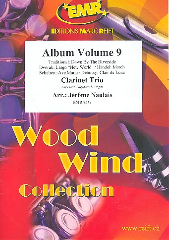 Album vol.9: for 3 clarinets and piano (keyboard/organ) (percussion ad lib)