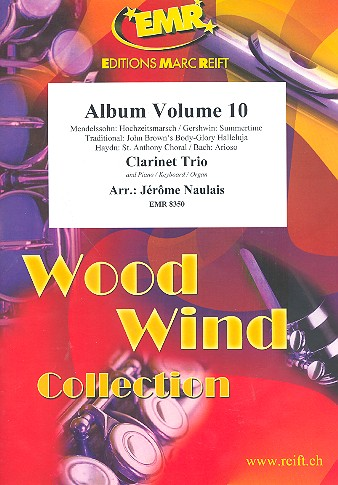 Album vol.10: for 3 clarinets and piano (keyboard/organ) (percussion ad lib)