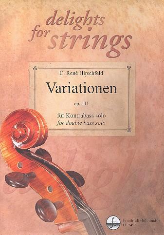 Variationen opus.111: für Kontrabass