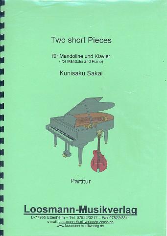 2 short Pieces: für Mandoline und Klavier
