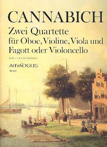 2 Quartette: für Oboe, Violine, Viola und Fagott (Violoncello)