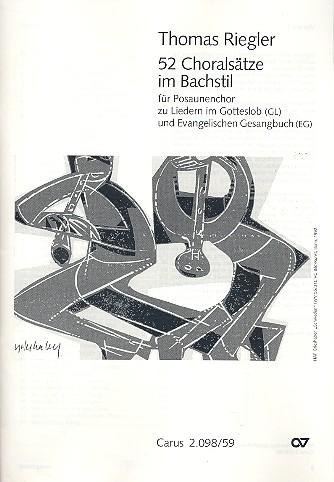 52 Choralsätze im Bachstil: für Posaunenchor Spielpartitur