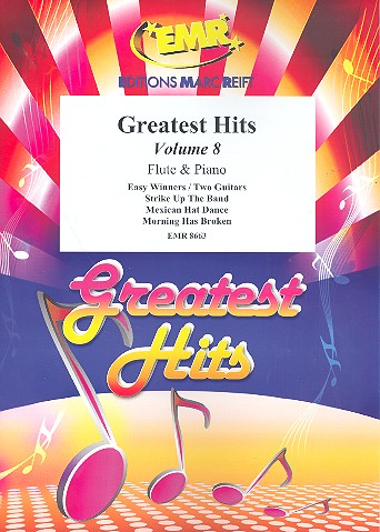 Greatest Hits Band 8: für Flöte und Klavier (Percussion ad lib)