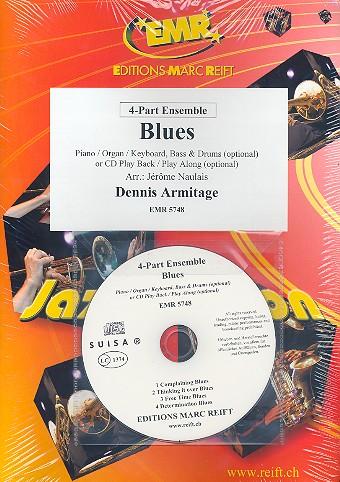 Blues (+CD): für 4-stimmiges Ensemble (Klavier/Orgel und Percussion ad lib)