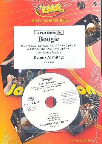 Boogie (+CD): für 4-stimmiges Ensemble (Klavier/Orgel und Percussion ad lib)