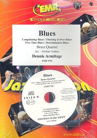 Blues (+CD): für 4 Blechbläser (Klavier/Orgel und Percussion ad lib)
