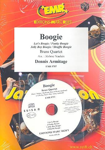Boogie (+CD): für 4 Blechbläser (Klavier/Orgel und Percussion ad lib)