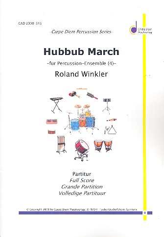 Hubbub March: für 3 Snare Drums und Bass Drum