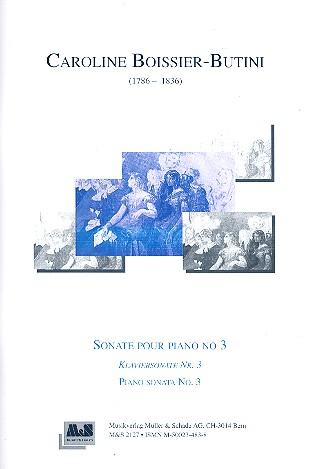 Boissier-Butini, Caroline - Sonate Nr.3 : für Klavier