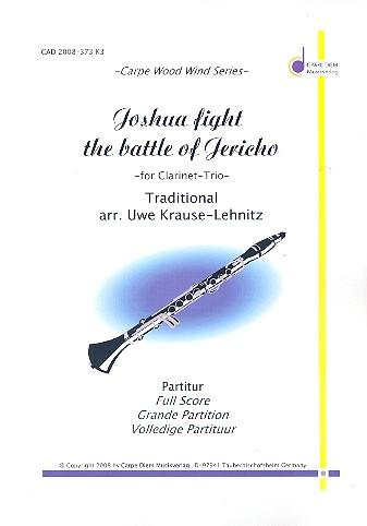 Joshua fight the Battle of Jericho: für 2 Klarinetten und Bassklarinette