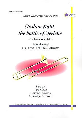 Joshua fight the Battle of Jericho: für 3 Posaunen