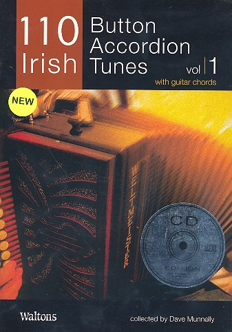 110 Irish Button Accordeon Tunes vol.1 (+CD): for accordion