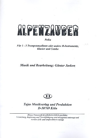 Alpenzauber: für 1-3 Trompeten (B-Instrumente), Klavier und Combo