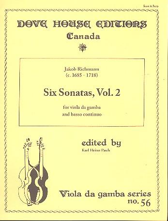 6 Sonatas vol.2: for viola da gamba and Bc