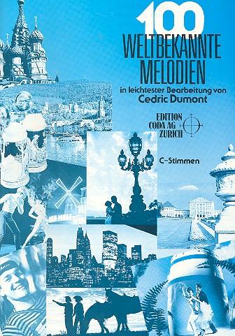 100 weltbekannte Melodien: für 2 Instrumente in C