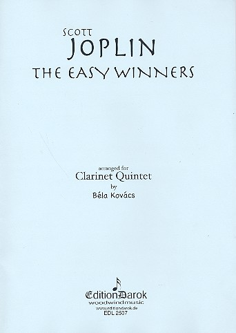 The easy Winners: for 4 clarinets and bass clarinets