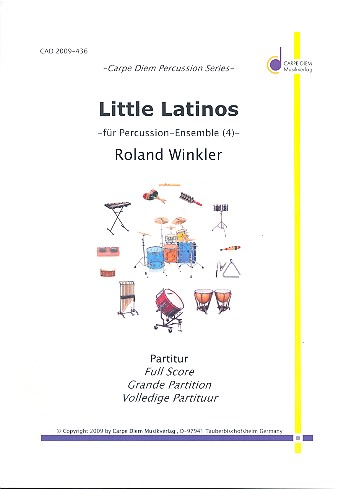 Little Latinos: für Percussion-Ensemble (4 Spieler)
