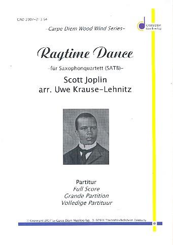 Ragtime Dance: für 4 Saxophone (SATBar) Partitur und Stimmen