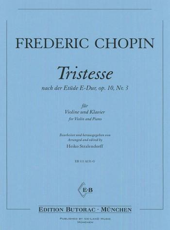 Tristesse opus.10,3: für Violine und Klavier