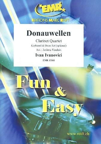 Donauwellen: für 3 Klarinetten und Bassklarinette (Keyboard und Schlagzeug ad lib)