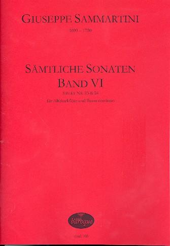 Sammartini, Giuseppe - Sämtliche Sonaten Band 6 :