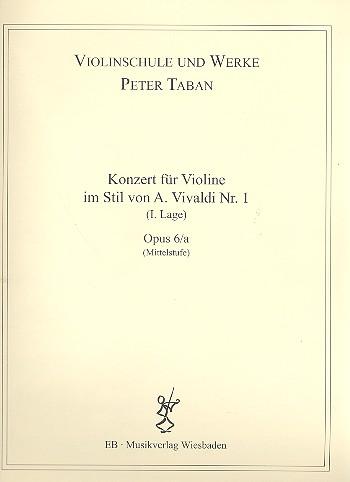 Konzert im Stil von A. Vivaldi Nr.1 opus.6a: für Violine und Klavier