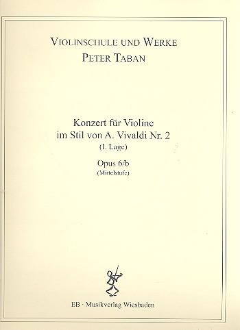 Konzert im Stil von A. Vivaldi Nr.2 opus.6b: für Violine und Klavier