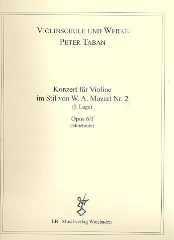 Konzert im Stil von W.A.Mozart Nr.2 opus.6f: für Violine und Klavier