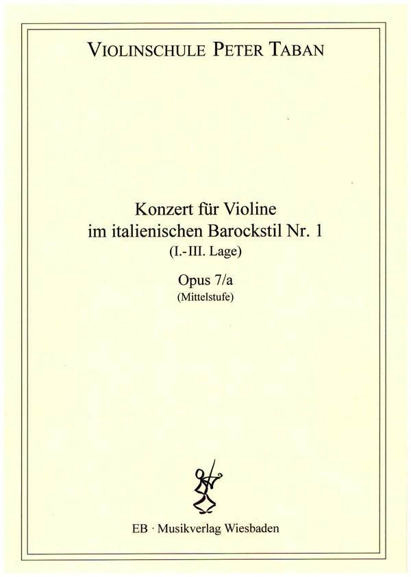 Konzert im Stil von A. Vivaldi Nr.1 opus.7a: für Violine und Klavier