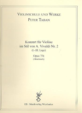 Konzert im Stil von A. Vivaldi Nr.2 opus.7b: für Violine und Klavier