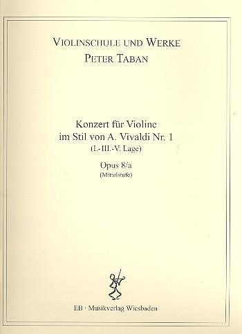 Konzert im Stil von A. Vivaldi Nr.1 opus.8a: für Violine und Klavier