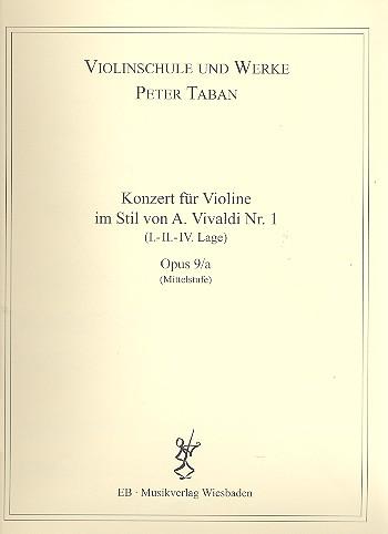 Konzert im Stil von A. Vivaldi Nr.1 opus.9a: für Violine und Klavier