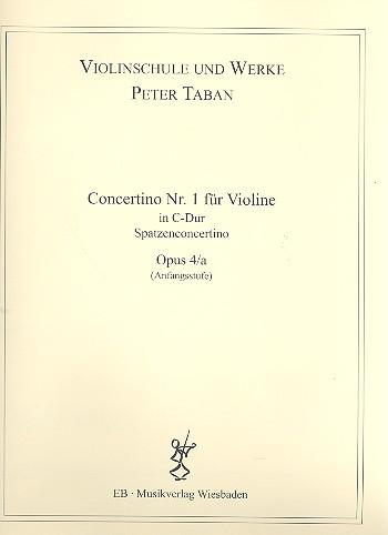 Concertino C-Dur Nr.1 opus.4a: für Violine und Klavier