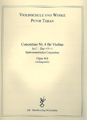 Concertino C-Dur Nr.4 opus.4d: für Violine und Klavier