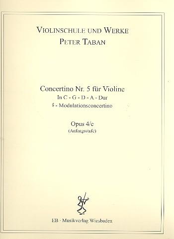 Concertino Nr.5 opus.4e: für Violine und Klavier