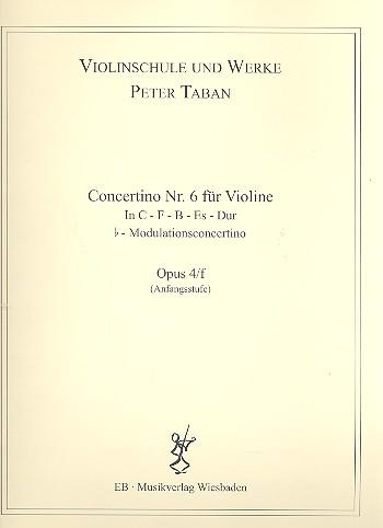 Concertino Nr.6 opus.4f: für Violine und Klavier